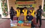 Polres Bartim Ringkus Tiga Pria Pengedar Obat-obatan Terlarang