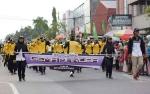 Marching Band Gema Marunting Batu Aji Ikut Rawaikan Pawai Nasi Adab