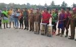 Tim Bola Voli Desa Tumbang Hakau dan Desa Tumbang Miwan Kampiun Turnamen Camat Cup VIII