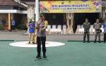 Polres Barito Utara Gelar Apel Persiapan Pengamanan Porprov