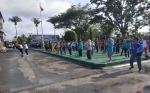 Kontingen Porprov se-Kalimantan Tengah Senam Bersama di Muara Teweh