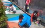 Permukiman Kumuh di Sampit Dipercantik dengan Pengecatan Warna-Warni Ulang