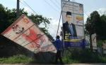 Bawaslu Kotim Tertibkan 152 Alat Peraga Kampanye di Sampit