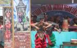 Rombongan Bupati Lamandau ke Sematu Jaya Disambut Reog Ponorogo