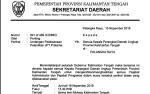 Besok, Gubernur Kalteng akan Lantik Pejabat Tinggi Pratama