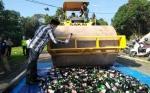 Polres Lamandau Musnahkan 936 Botol Miras dan 335,77 Gram Sabu