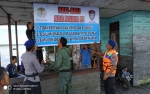 Muncul Buaya di Dusun Belanti, BKSDA dan Polairud Langsung Pasang Imbauan