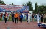 Ribuan Peserta Senam Bersama dan Cek Kesehatan Gratis