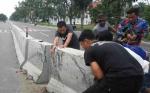 Polisi Lakukan Koordinasi Tangani Pembatas Jalan Sering Ditabrak