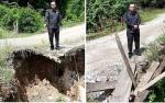 Warga Desa Pendreh Minta Perbaikan Jalan Longsor dan Jembatan Rusak