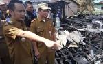 Wali Kota Cek Bekas Kebakaran Perumahan di Murjani