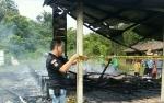 Rumah Kayu di Mentaya Seberang Terbakar