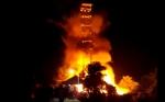 Giliran Bangunan di Kawasan Tugu Soekarno Terbakar