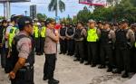 Ratusan Personel Dikerahkan Amankan Kunjungan Cawapres Nomor Urut 2