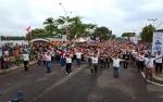 Ribuan Warga Buntok Padati Lokasi Millenial Road Safety Festival