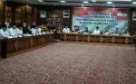 Bupati Gumas Hadiri Rapat Koordinasi Persiapan Pemilu Provinsi Kalteng