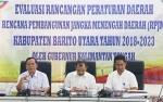 Pemerintah Kabupaten Barito Utara Gelar Evaluasi Rancangan Perda RPJMD 2018-2023