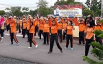 Polres Kapuas Jalin Soliditas dengan TNI Melalui Olahraga