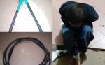 Tepergok Curi Kabel Listrik di Gardu PLN, Laki-Laki ini Diamankan Warga