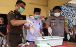 Polres Kotim Musnahkan Sabu Senilai Rp447 Juta dan Lima Butir Ekstasi