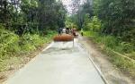 Pembangunan Jalan Desa Lampeong I Gunakan Dana Desa Telah Rampung