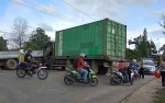 Jalan Sampit-Samuda Macet