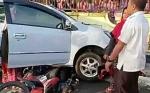 Nenek Pengemudi Mobil Tabrak Pengendara Sepeda Motor