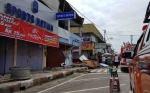 Atap Toko Ambruk di Pasar Saik Pangkalan Bun Hebohkan Warga