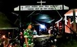 Meski Hujan, Babinsa Sei Hanyo Tetap Semangat Amankan Perayaan Paskah