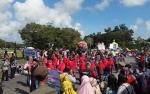 Kontingen Pulang Pisau Meriahkan Pawai Taaruf STQ XXII Kalteng
