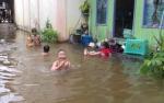 Banjir di Tumbang Samba Katingan Mulai Surut