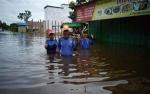 Dinas Sosial Kalimantan Tengah Cepat Tanggap Sikapi Banjir di Katingan dan Gunung Mas