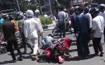 Pengendara Ninja dan Beat Alami Kecelakaan di Jalan Ahmad Yani Kapuas
