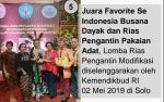 Busana Dayak dan Rias Pengantin Pakaian Adat Pernah Raih Juara Favorit se Indonesia