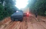 Jalan Menuju Tumbang Samba Katingan Rusak Berat