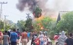 Rumah Barak di Jalan Manduhara Terbakar
