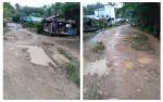 Warga Desa Kayumban Keluhkan Jalan Rusak
