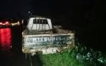 Pikap Terbakar Usai Isi BBM di Anjir Serapat Tengah