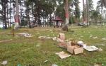 Liburan Wisata Pantai Sei Bakau Sisakan Sampah Berserakan
