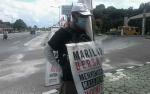 Sudarsono Kampanyekan Perdamaian Berjalan Kaki Keliling Kalimantan