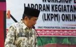 Wakil Bupati Murung Raya Buka Workshop Evaluasi LKPM Online 2019