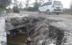 Dihantam Ombak, Jembatan Penghubung Kuala Pembuang - Sampit Nyaris Putus