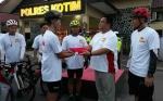 Long Ride Kebangsaan HUT Bhayangkara Polres Kotim, Peserta Bersepeda Sampit - Palangka Raya