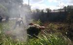Garis Polisi Dipasang di Lokasi Lahan Terbakar