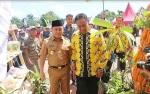 Gubernur Disuguhi Panganan Hasil Pertanian Pulang Pisau di PEDA XII KTNA Kalteng
