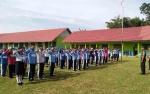 Babinsa Ajarkan Peraturan Baris Berbaris Pada Siswa MPLS