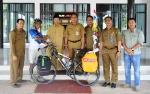 Eko Subiyantoro Wujudkan Peduli Kanker dengan Bersepeda Seorang Diri Sejauh 1.300 Km