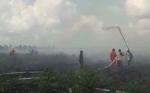 Satgas Karhutla Masih Berjibaku Padamkan Kebakaran Lahan di Mentaya Hilir Utara