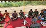 Dukung TMMD ke- 105 di Kelurahan Pangkut, Kepala Adat Hibahkan Sebidang Tanah
