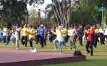 Bupati Kotawaringin Barat Senam Bersama di Jumat Pagi